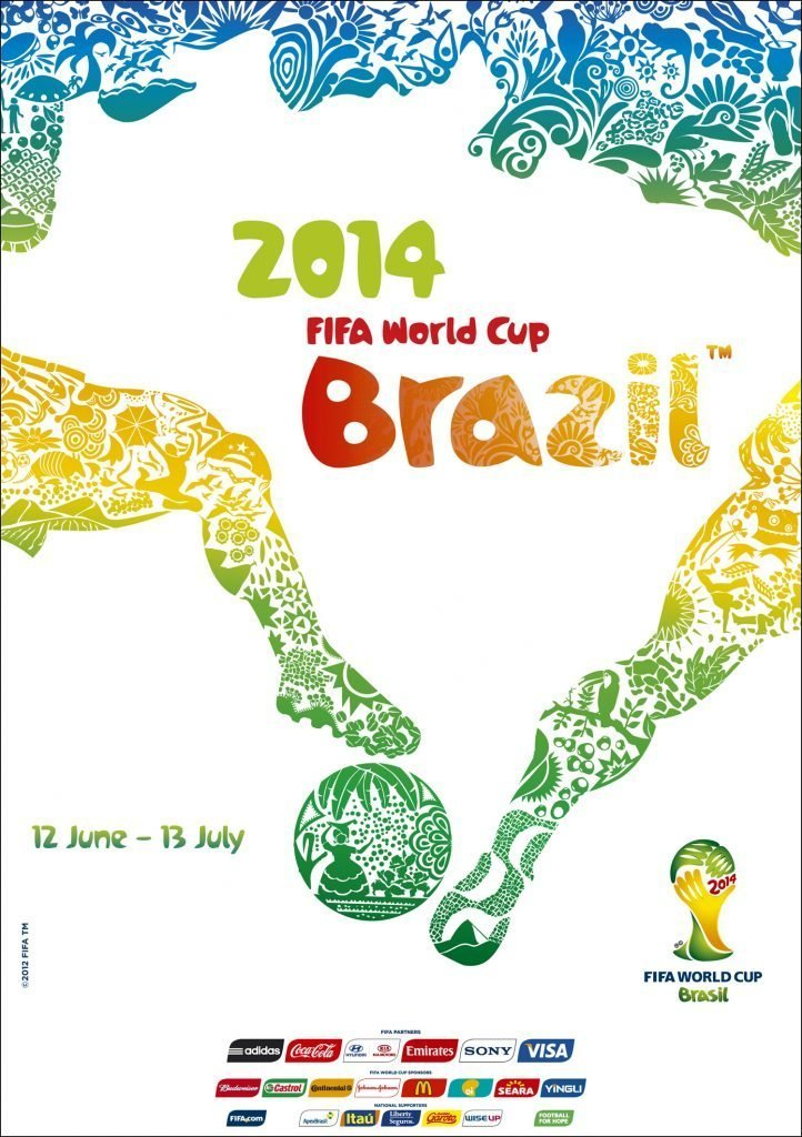 Brazil 2014 World Cup poster