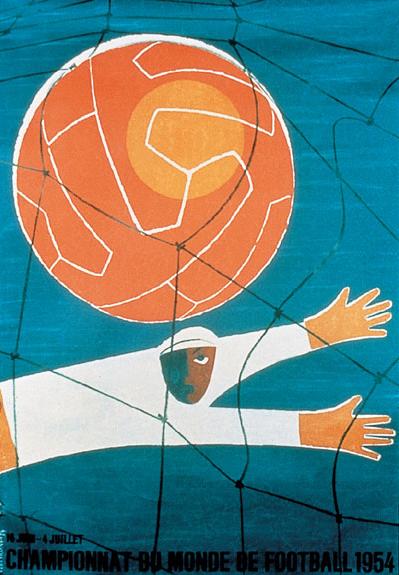 Switzerland 1954 world cup poster